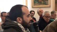 Adriano Pagano interviene alla conferenza stampa del Sindaco Sandro Bartolomeo