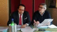 Williams Di Cesare con uno degli avvocati difensori Pasquale Cardillo Cupo