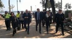 Zingaretti durante la visita a Formia