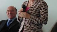 Il sindaco Vigorelli con l'assessore Visini in un momento dell'inaugurazione