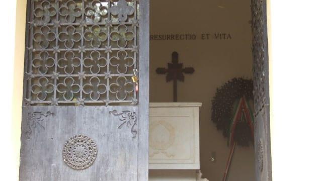 La tomba di Menotti Garibaldi ad Aprilia