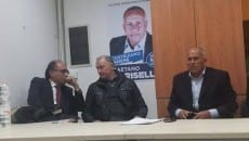 Ncd presentazione, da sx Tiero, Luigi Parisella, Gaetano Parisella