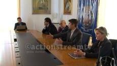 Raphael Rossi in un incontro al Comune di Formia
