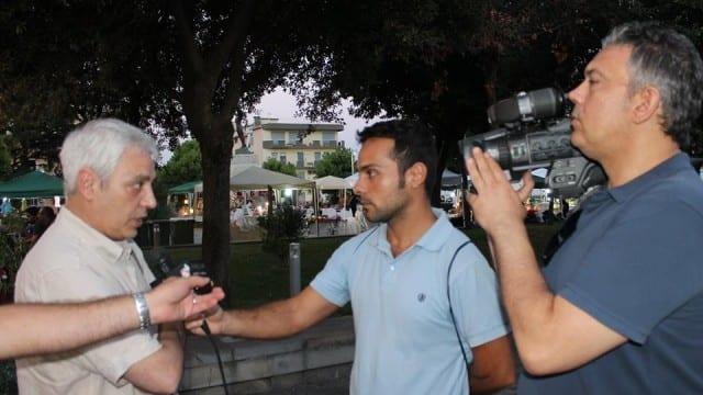 Francesco Furlan durante un'intervista