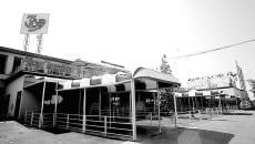 L'ingresso della discoteca Seven Up come appariva all'inizio degli anni '80
