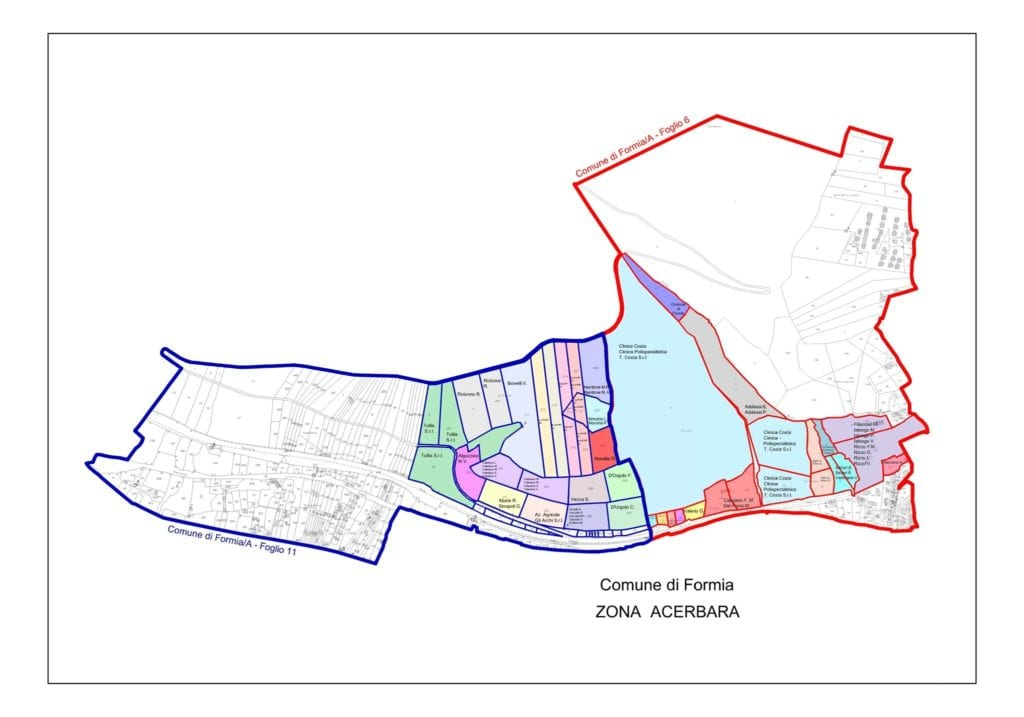 L'area dell'Acerbara nel Prg di Pruini per l'amministrazione Forte