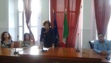 Patrizia Gaetano in un momento della conferenza stampa