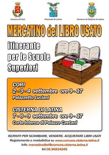 Mercatino del libro scolastico usato sono aperte le for Mercatino dell usato latina