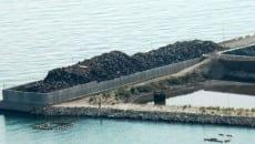 Ferro come appariva in banchina al porto di Gaeta nel periodo precedente l'inchiesta