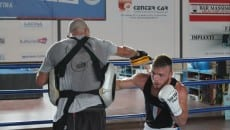 Battisti ed il maestro Petroni boxe Latina