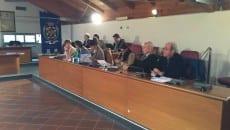 I banchi della maggioranza nell'ultimo Consiglio comunale del 30 novembre