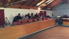 I banchi dell'opposizione, assenti i consiglieri di Forza Italia