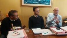 Da sinistra Masiello, Ciaramella e Sandro Zangrillo