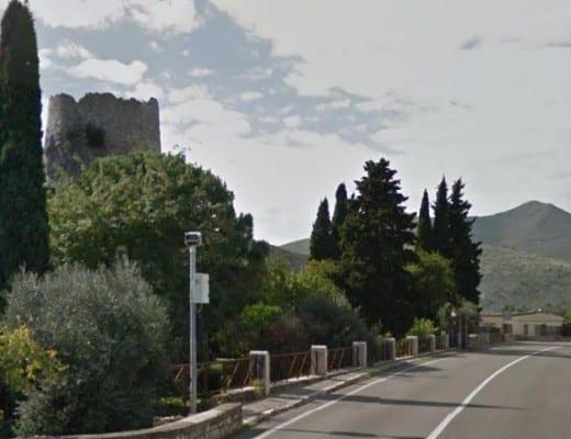 L'autovelox nei pressi della Tomba di Cicerone