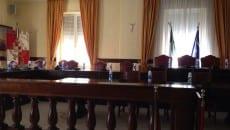 La sala consiliare del Comune di Gaeta