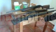 I tre fucili sequestrati dalla Forestale