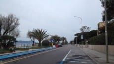 Un tratto della pista ciclabile a Terracina