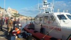 Questa mattina i mezzi navali della Capitaneria fotografati in partenza da Gaeta verso il luogo del ritrovamento del Rosinella