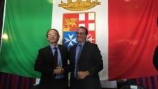 Il Preside della Facoltà di Economia dell'Università La Sapienza di Roma Giuseppe Ciccarone e il sindaco di Gaeta Cosmo Mitrano