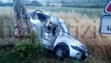 L'auto incidentata