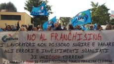 Manifestazione Uiltucs Latina a sostegno dei lavoratori Unicoop Tirreno
