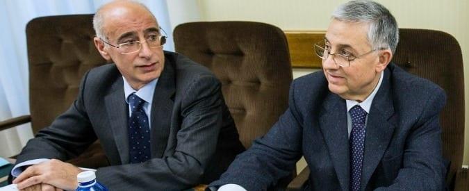 Michele Prestipino - a sinistra - e il capo nazionale dell'Antimafia Pignatone