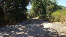 Strada per l'Ospedale Franceschini per chi viene dalla Lottizzazione Darsena Verde