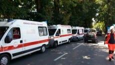 Ambulanze della Croce Rossa arrivate a Rieti