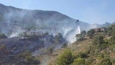 Incendio Lenola 21 agosto 2016