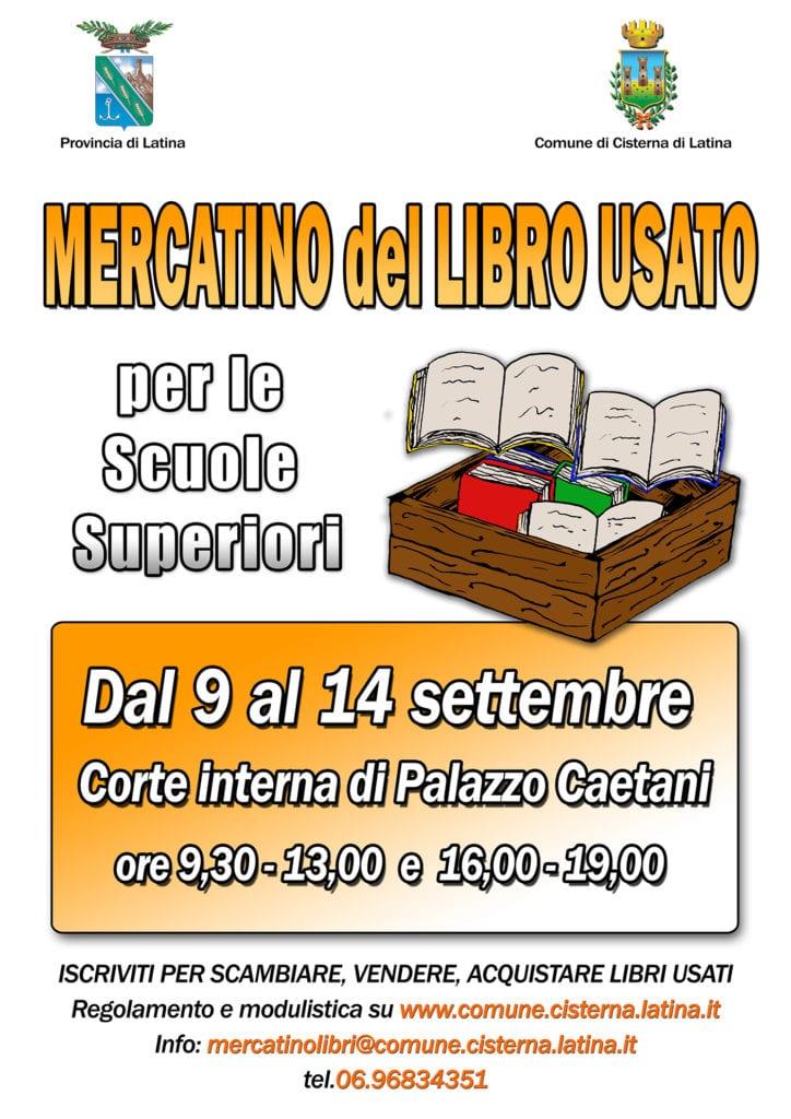 Cisterna torna il mercatino del libro usato for Mercatino dell usato latina