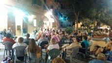 Un momento della serata a Piazza Castello
