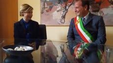 Il sottosegretario di Stato per i beni culturali ed il turismo, on. Dorina Bianchi e il sindaco Mitrano