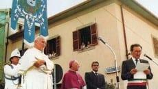 Giovanni Paolo II con il sindaco Gallo