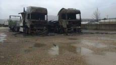 I due tir andati a fuoco nel marzo 2014 a Fondi (video)