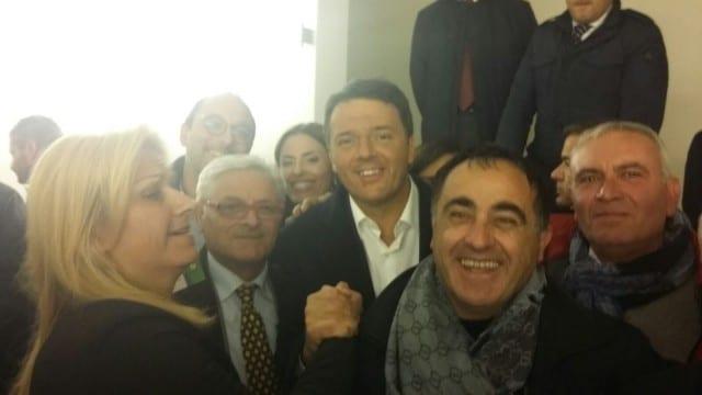 Il Presidente del Consiglio insieme a Marrigo Rosato, Vincenzo Calcamucci e Salvatore Guerriero