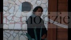 Andrea Tamburrino oggi presso la villa di via Giovenale durante il sopralluogo dei Ris