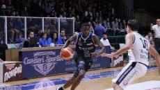 Un momento della partita (Foto di Ivan Gilardone per Derthona Basket)
