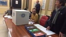 Il seggio elettorale predisposto ieri in via Costa a Latina