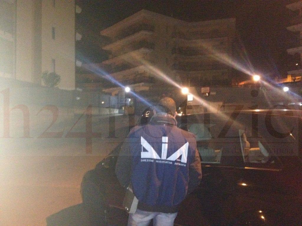 La DIA all'ingresso del Parco Luci del Mare a Formia dove giovedì è stata arrestata Katia Bidognetti