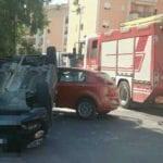Incidente in via Oslavia: due le auto coinvolte