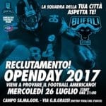 "Football americano, primo open day per i ""Bufali Latina"""