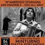 Ambrogio Sparagna in concerto a Minturno