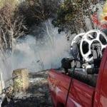 Incendio a Santa Maria La Noce: in fumo 10 ettari di macchia mediterranea