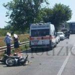 Schianto tra auto e scooter, incidente sulla Fondi-Sperlonga