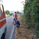 Bici travolta da un'auto, incidente sulla Fondi-Sperlonga