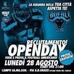 Football americano, i Bufali Latina tornano in campo
