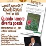 Castello Caetani ospita la presentazione del libro di Mario Carroccia