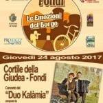 """Domani a Fondi il concerto del """"Duo Kalàmia"""""""