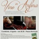 """Castelforte, piazza Municipio ospita l'appuntamento con """"Vino in Anfora"""""""