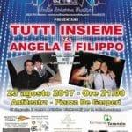 Tutti insieme per Angela e Filippo, domani sera in piazza De Gasperi